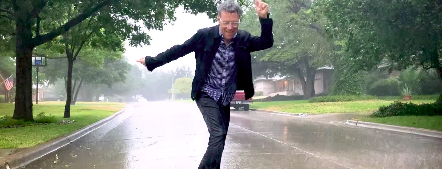 Brad Singing in the Rain