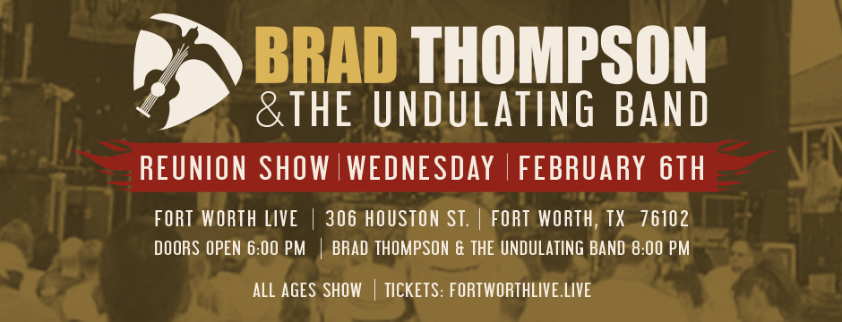 Brad Thompson & The Undulating Band Reunion 2019