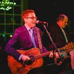 Brad Thompson singing at wedding reception