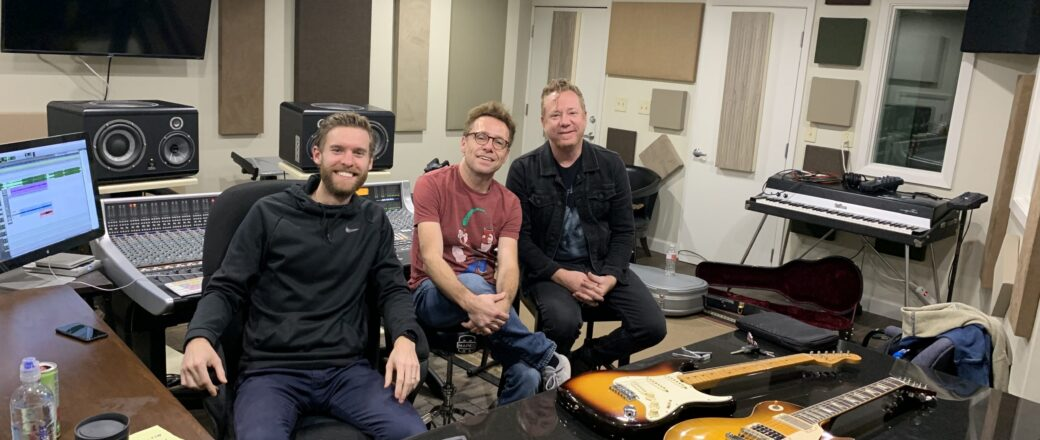 In studio with Tanner, Brad & Aden