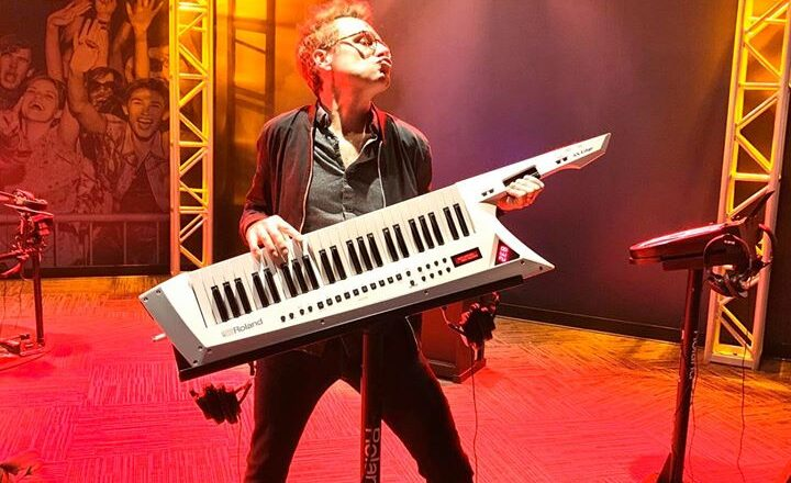 Brad and his keytar